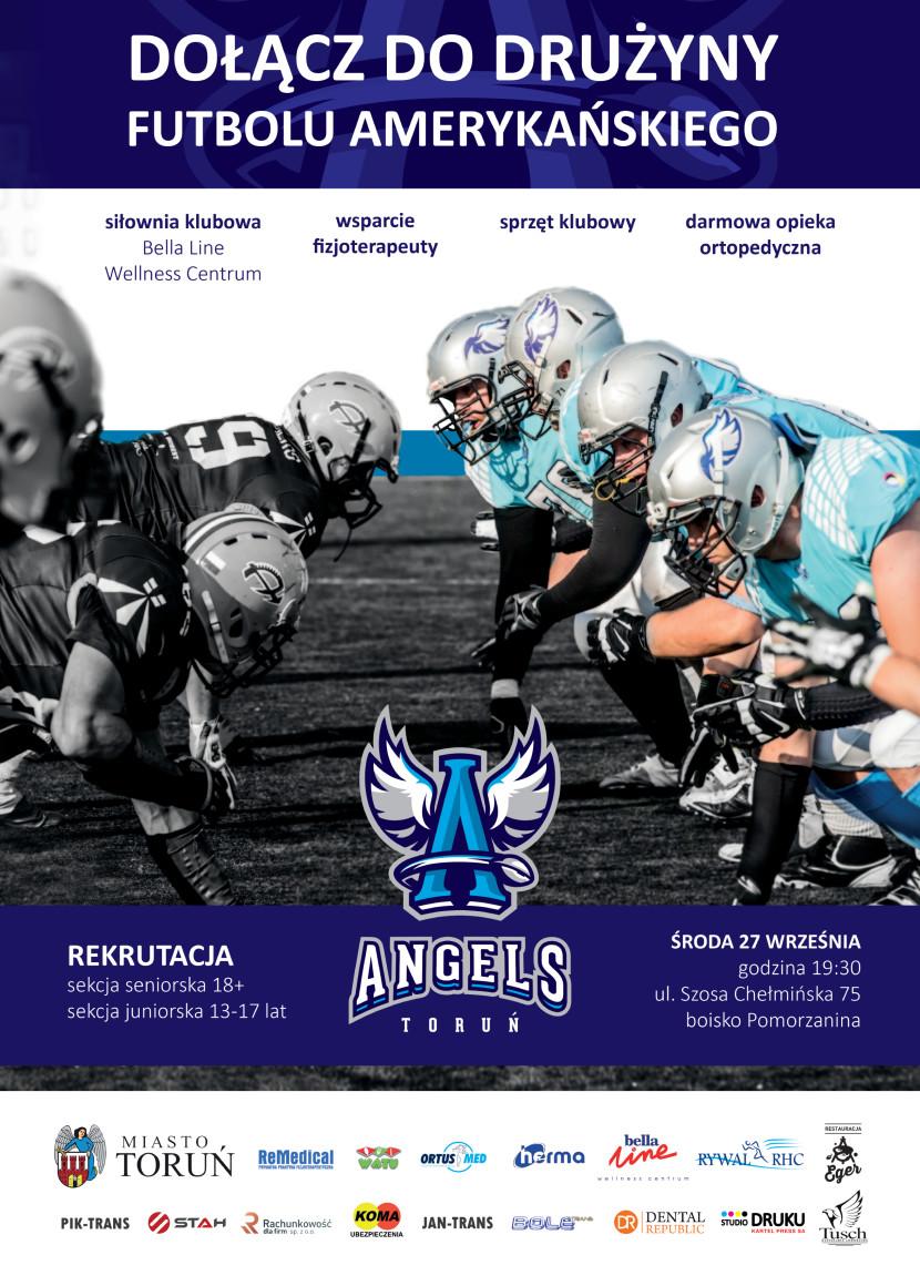 Plakat Rekrutacja do Angels Toruń